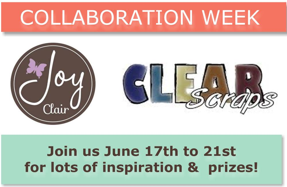 Joy Clair is partnering with Clear Scraps