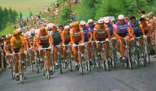 Tour de France 1973, coureurs en peloton.