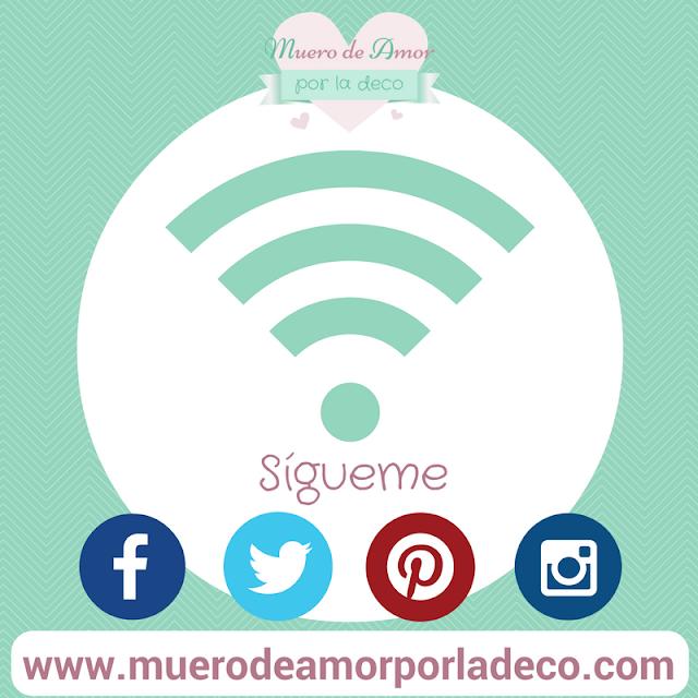 Redes Sociales blog de decoración Muero de Amor por la Deco