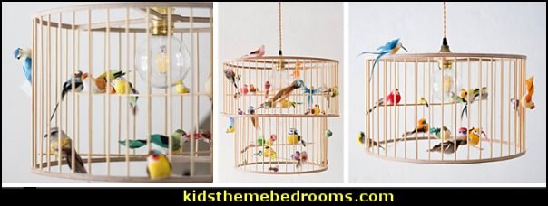 bird cage lamps  birdcage bedroom ideas - decorating with birdcages - bird cage theme bedroom decorating ideas - bird themed bedroom design ideas - bird theme decor - bird theme bedding - bird bedroom decor - bird cage bedroom decor - bird cage lighting