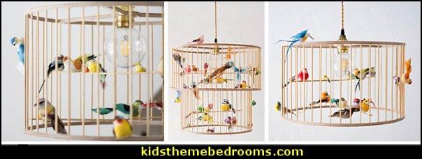 bird cage lamps  birdcage bedroom ideas - decorating with birdcages - bird cage theme bedroom decorating ideas - bird themed bedroom design ideas - bird theme decor - bird theme bedding - bird bedroom decor - bird cage bedroom decor - bird cage lighting