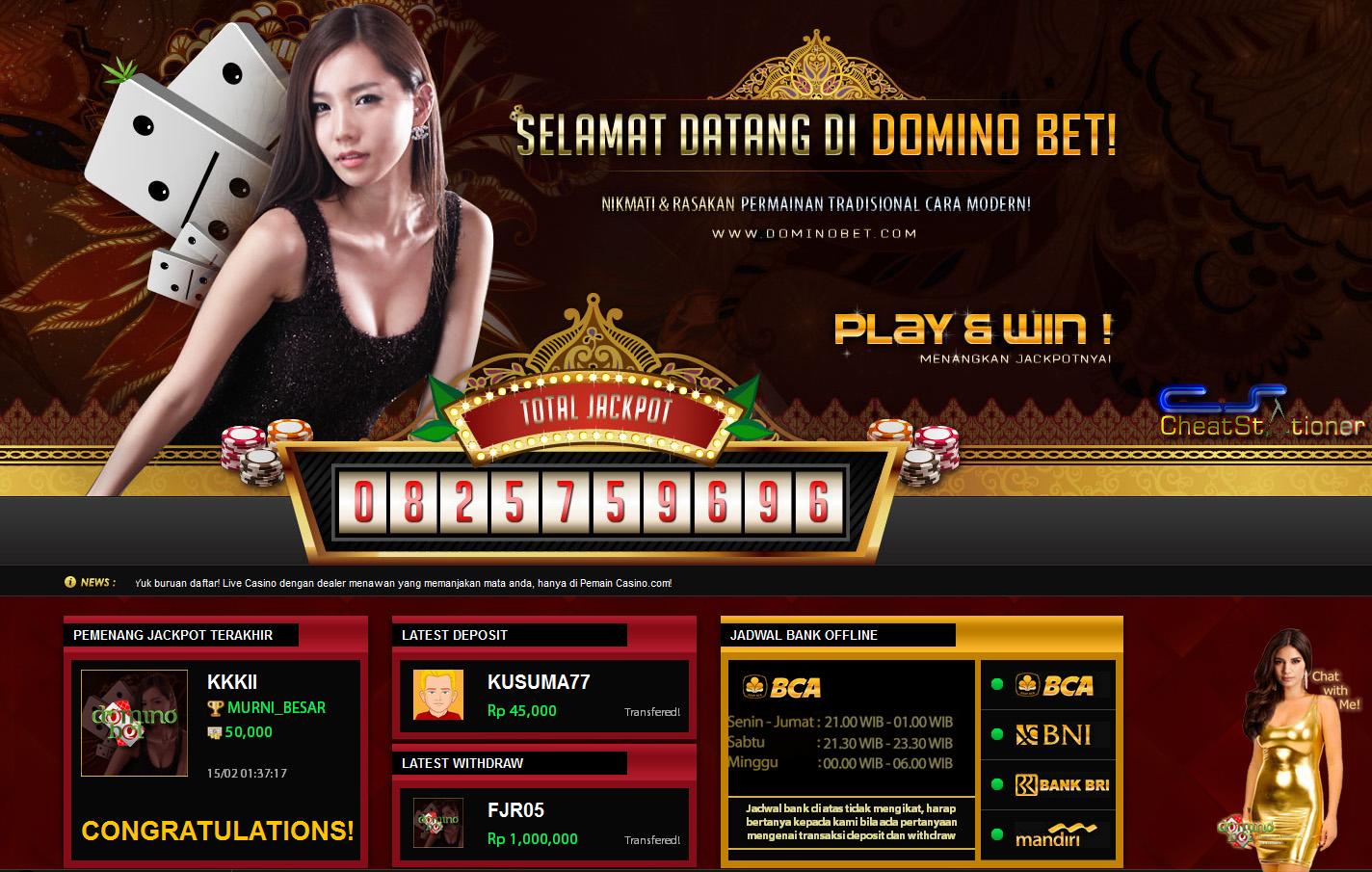Cheat domino poker di fb