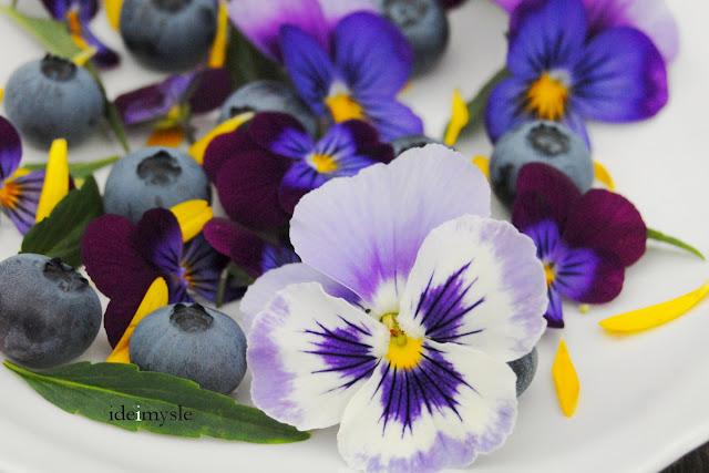 kwiatowa sałatka przepis, jadalne kwiaty, sałatka z kwiatów, sałatka owocowa