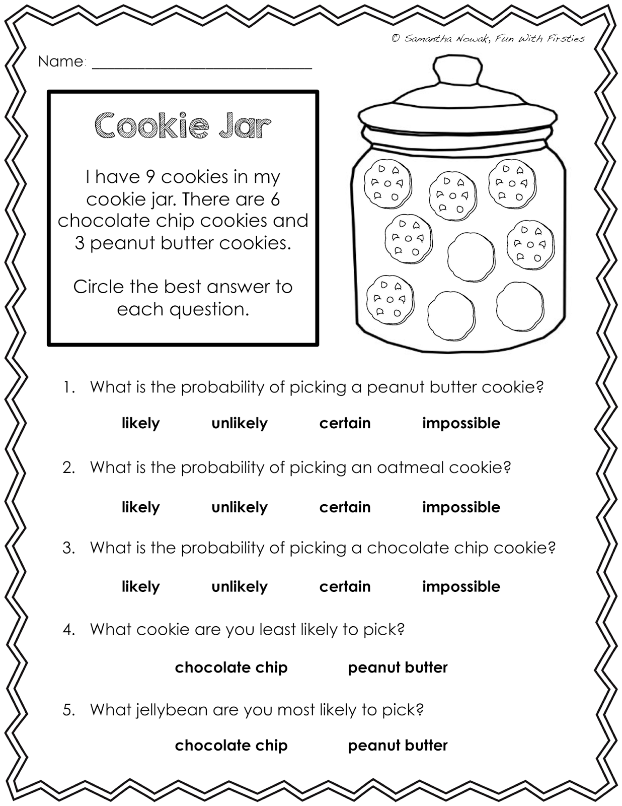 Gallery For u0026gt; Probability Spinner Worksheet