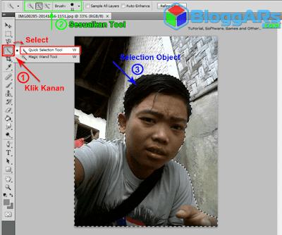 Cara Memotong Objek Foto di Photoshop