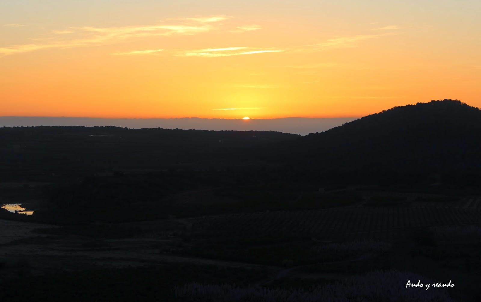 Amanecer en la Sierra Calderona-Valencia