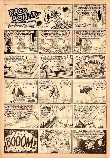 Paco Cohete es una serie dibujada por Martz Schmidt bajo el seudónimo de Mas  Esparch publicada en la revista Cadete