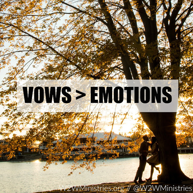 Wedding vows > your emotions. #marriage #marriagemonday #wife #husband #emotions #weddingvows