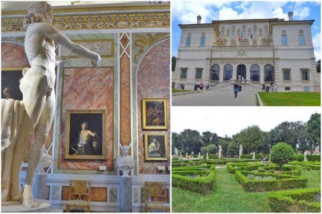 Sala con obras de Caravaggio en la Galleria Borghese – Galleria Borghese y sus jardines en Roma