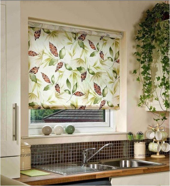 Window decorations, The best ideas for window decor, floral window blinds for kitchen