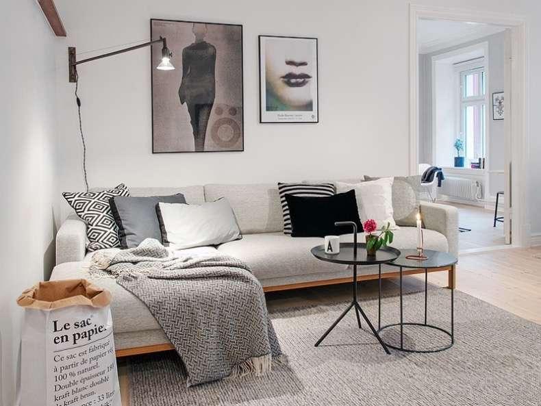 como decorar y amueblar tu piso de alquiler con tonos neutros en los textiles