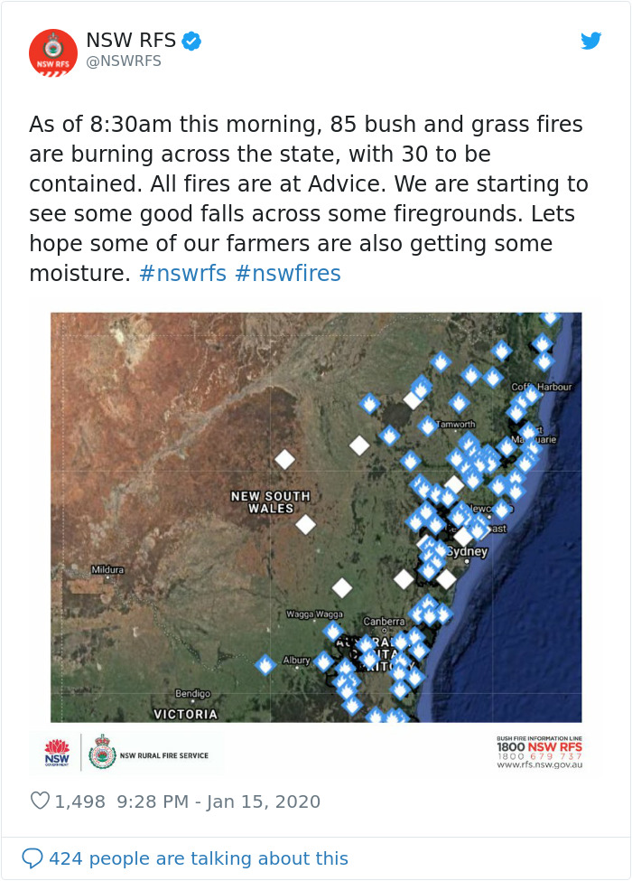 At Last, Rain Poured In Australia Dropping Down The Bushfires From 120 To 88