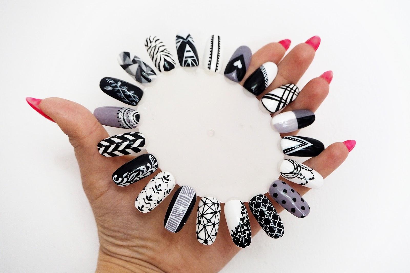 czarno-białe wzory