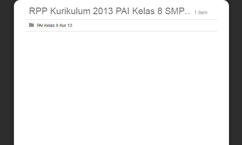 RPP Kurikulum 2013 PAI Kelas 8 SMP Lengkap Revisi Terbaru