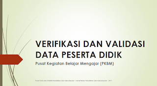 Panduan Verval Data Peserta Didik PKBM Terbaru