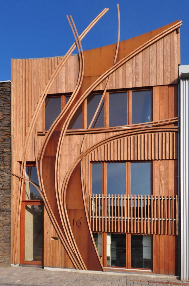 Architecture Modern Architecture Facade House: Beautiful Houses: Corten Steel And Wood Facade House, Leyden, Netherlands