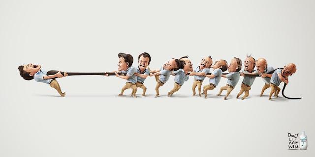 Ilustración de anuncio de champú contra caída del cabello