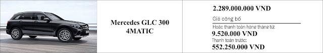 Giá xe Mercedes GLC 300 4MATIC 2019 hiện đang là 2.289 tr tại các đại lý Mercedes