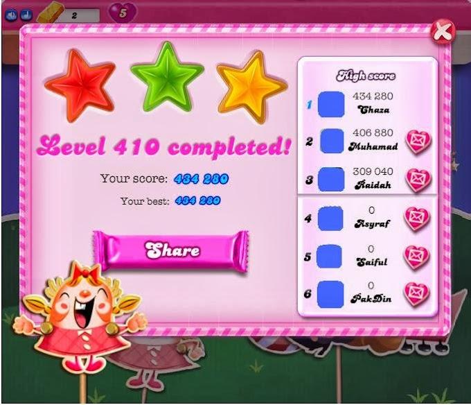 Candy Crush Empat Satu Kosong