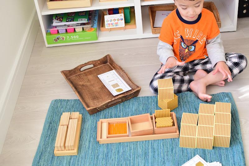 Montessori Golden Beads Bank Game