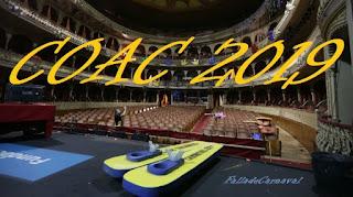Orden de actuación en la gran final COAC 2019