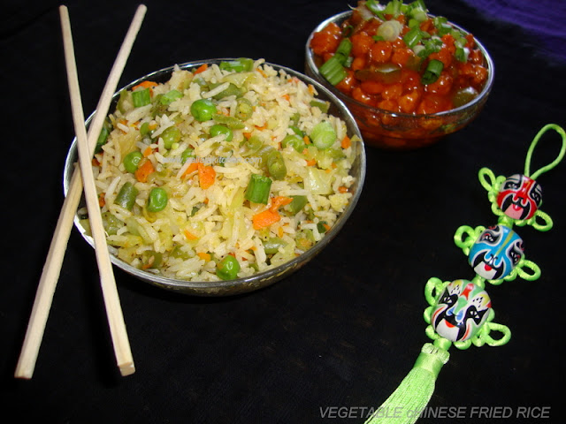 images of Vegetable Chinese Fried Rice / Chinese Fried Rice / Fried Rice Recipe / Simple Fried Rice Recipe / Quick Fried Rice