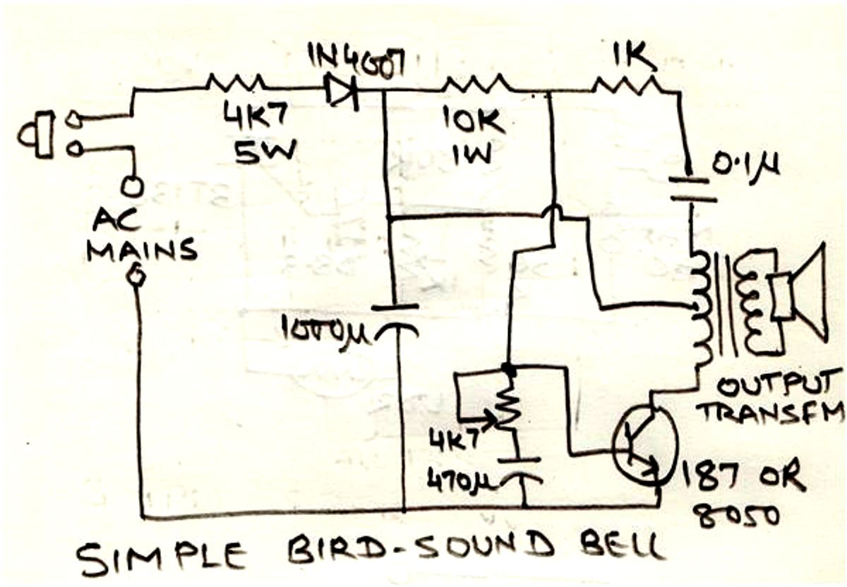Electric Circuit Connected To A Capacitor In Fields Not Lossing Electronic Diagram Ups Simple Bird Sound Generator