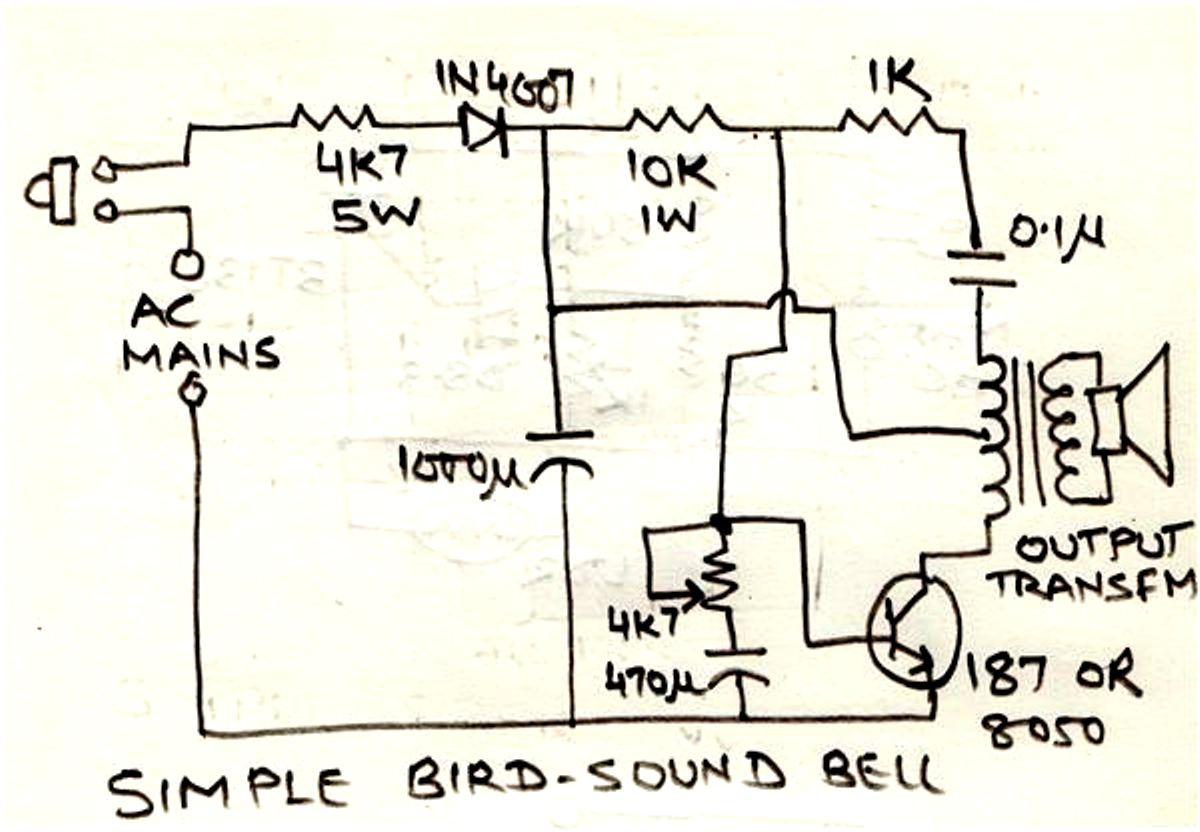 Simple Circuit Diagram 2001 Saturn Sc2 Ignition Wiring Hobby Electronic Circuits Bird Sound Generator