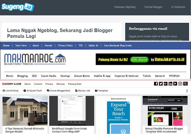 Cerita sukses 3 Admin mastah blogger (sugeng.id, maxmanroe.com, kompiajaib.com)