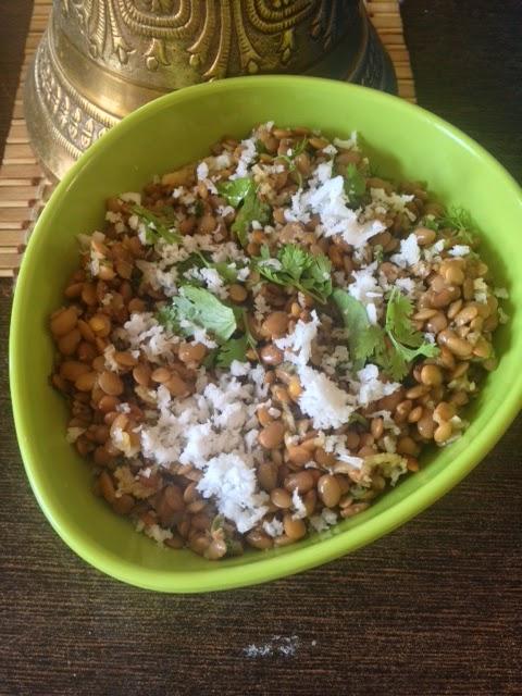 Horsegram Salad , Huruli Usli,Kulith usal
