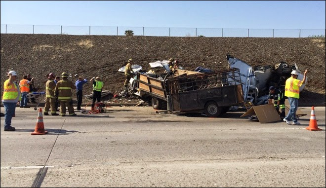 fatality car collision chevy truck van kern county four killed highway 58