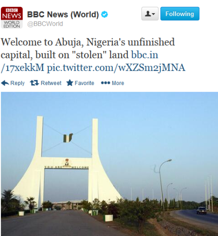 bbc article abuja built stolen land