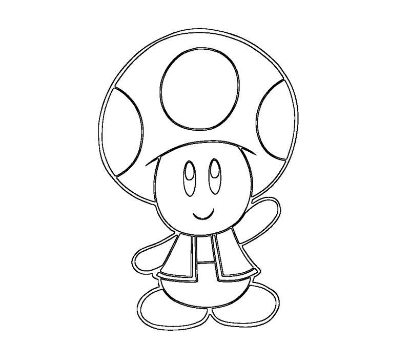 Free coloring pages of mario kart toad