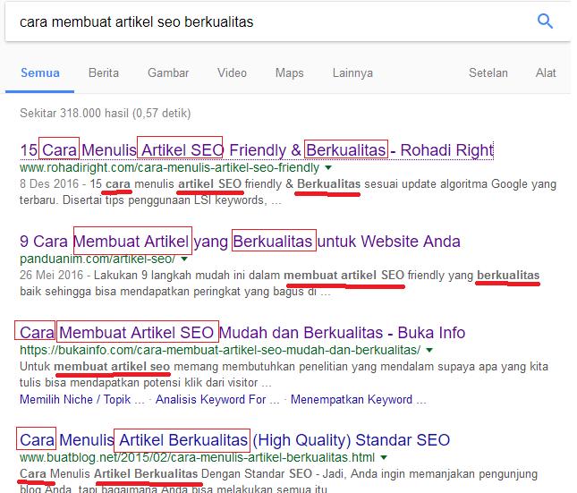cara mesin mencari melihat keyword