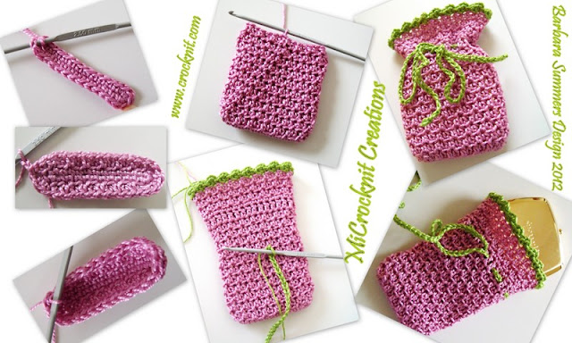 free crochet patterns, how to crochet, gift bag, drawstring,