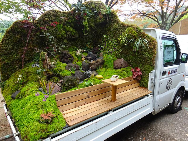 El Concurso Japones De Jardines Sobre Mini Camiones Es Un Nuevo - Paisajismo-jardines