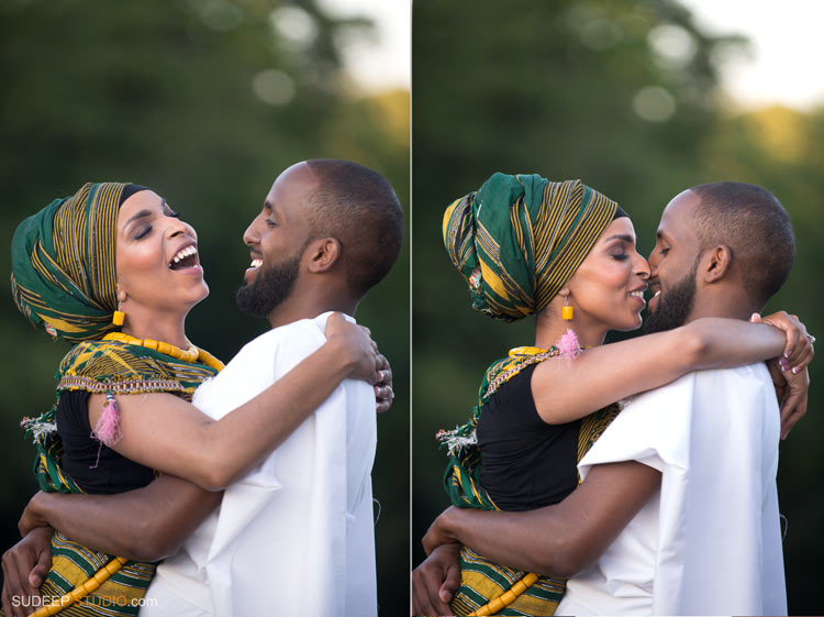 Engagement Portraits in African Ethnic Clothes - SudeepStudio.com