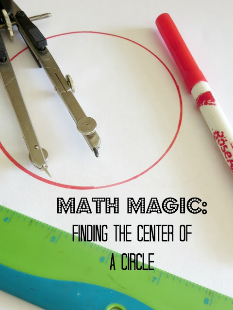 "Show kids some ""geometry magic"" by constructing the center of a circle"