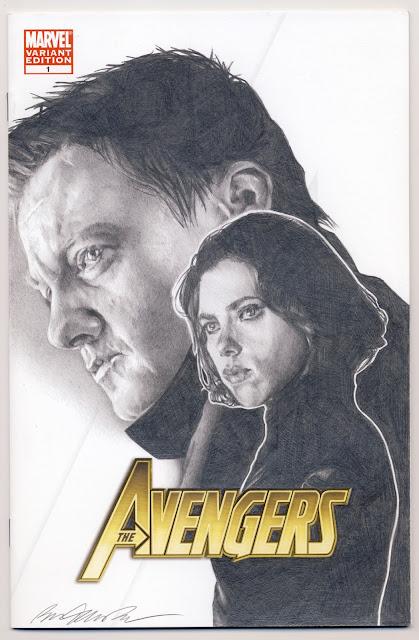 THE AVENGERS #1 Renner & Johansson - Ben Temples