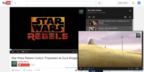 Floating YouTube, reproduce video desde Google Chrome.