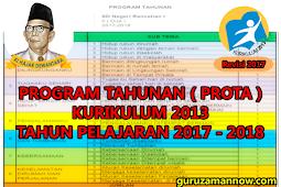 PROGRAM TAHUNAN ( PROTA ) SD/MI TAHUN PELAJARAN 2017 - 2018 KURIKULUM 2013