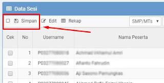 Cara Mengatur Peserta dan Sesi di Web ubk.kemdikbud.go.id