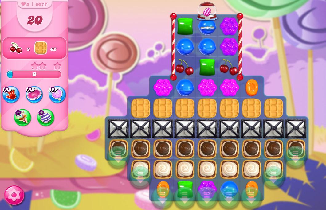 Candy Crush Saga level 6077