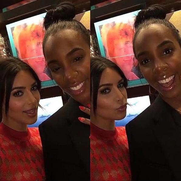 Aww! Kim K And Kelly Rowland Pose For Adorable Groupie