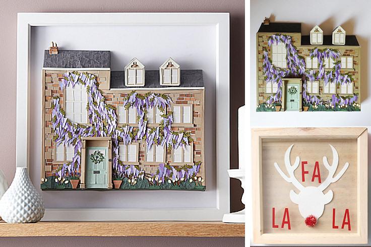 Framed Paper Cut House