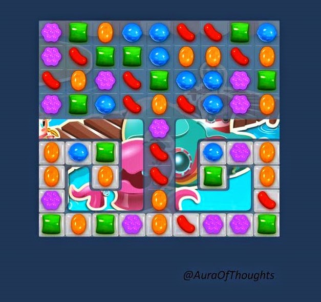 Mili n Sneha play Candy crush- Aura of thoughts