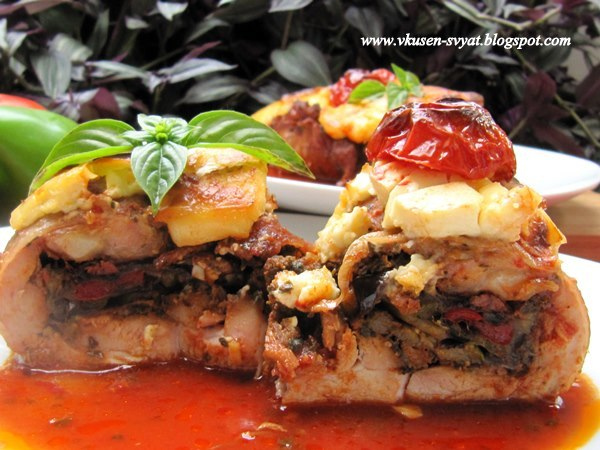 Градинарски кебап в пилешка пържола / Gardeners Kebab in a Chicken Steak