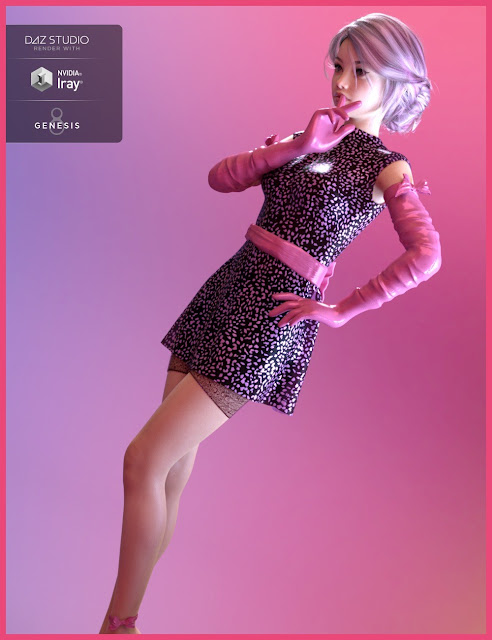 dForce Hanoi Fashion Outfit for Genesis 8 Female