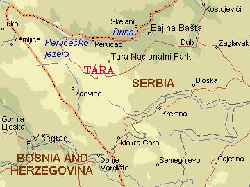 mapa srbije tara Per@ Travel: TARA mapa srbije tara