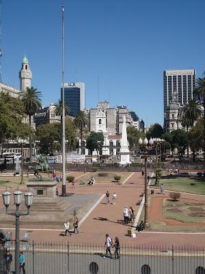 Plaza de Mayo. Vista do terraço da Casa Rosada